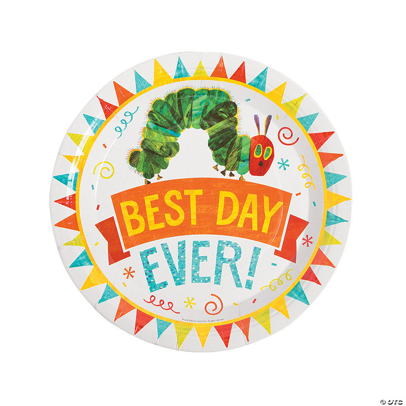 sc 1 st  Oriental Trading & The Very Hungry Caterpillar™ Paper Dinner Plates