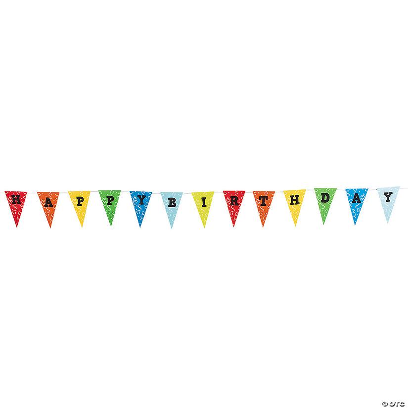Happy Birthday Paper Pennant Banner