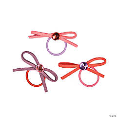 Elastic Bow Rings with Jewel