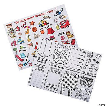 Summer Vacation Fold-Up Activity Sheets