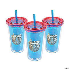 Star Wars™ Episode VII: The Force Awakens Double Wall Cups with Straw