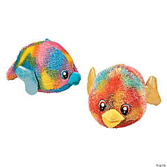 Plush Tie-Dyed Puffer Fish