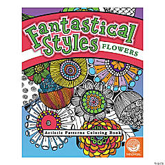 MindWare® Fantastical Styles: Flowers Adult Coloring Book