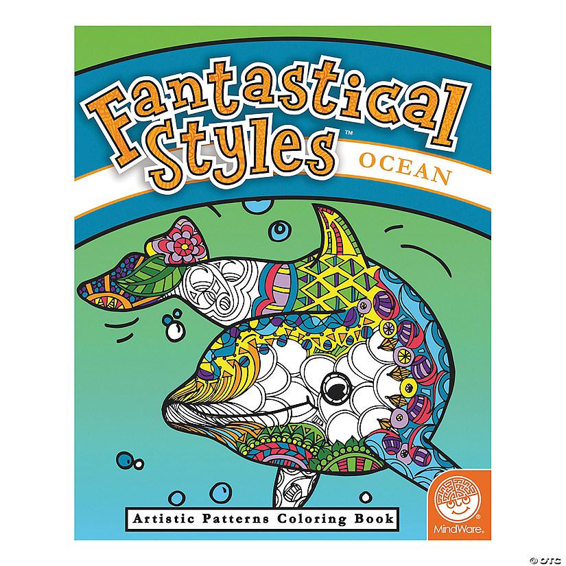 MindWare® Fantastical Styles: Ocean Adult Coloring Book