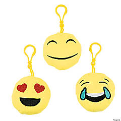 Plush Emoji Zipper Pulls