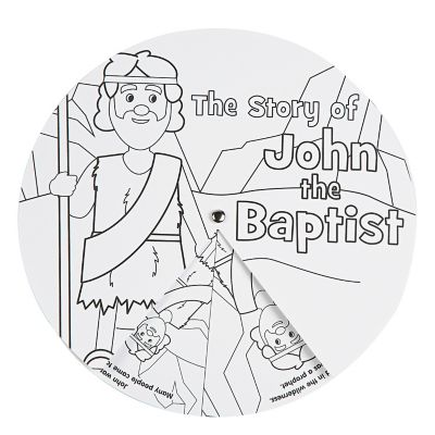 John Baptism story wheels crafts