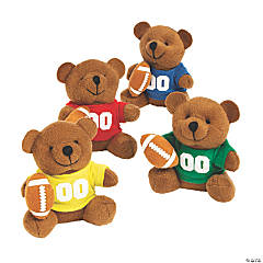 Stuffed Bears in a Football Jersey