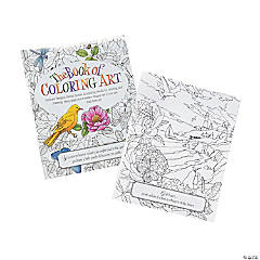 The Art of Nature Inspirational Adult Coloring Book