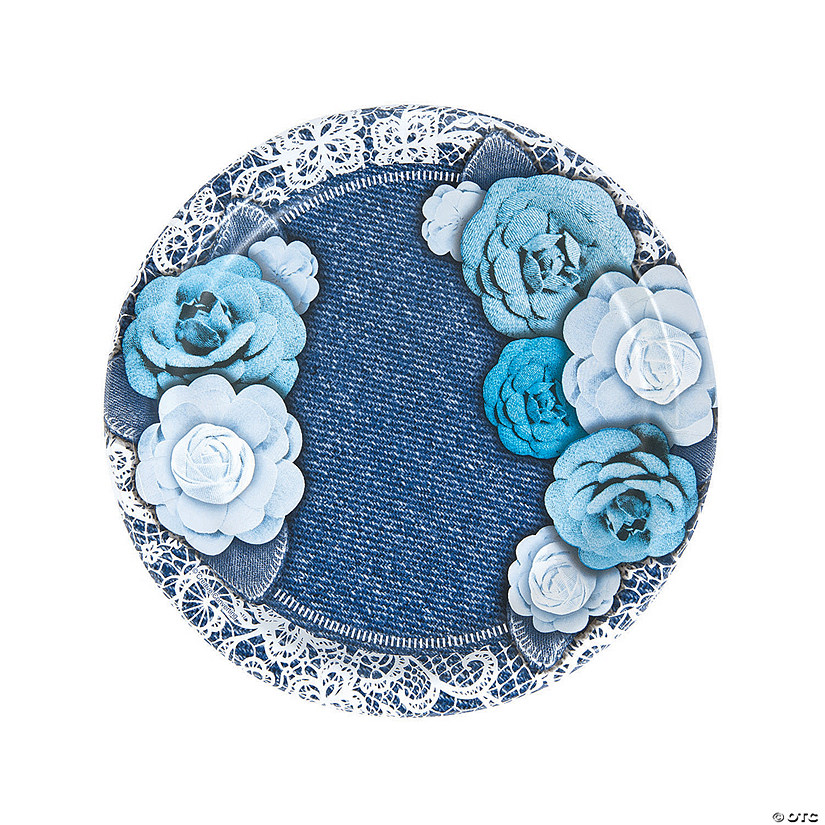 Denim u0026 Lace Paper Dinner Plates  sc 1 st  Oriental Trading & Denim u0026 Lace Paper Dinner Plates - Discontinued