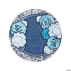 Denim & Lace Paper Dinner Plates