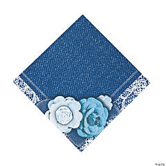 Denim & Lace Luncheon Napkins