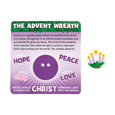 Advent buttons carded