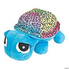 Plush Rainbow Turtle