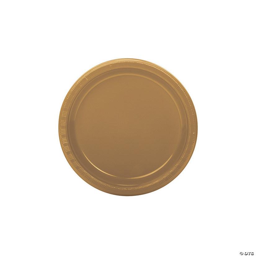 sc 1 st  Oriental Trading & Gold Plastic Dessert Plates - 50 Pc.