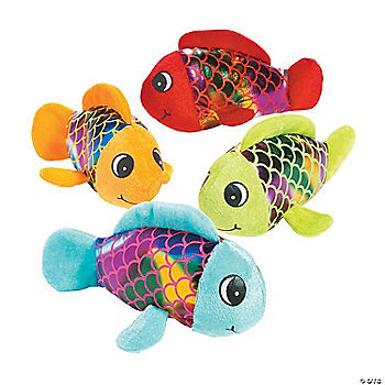 Plush shiny fish for Fish stuffed animal