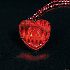 Valentine Necklaces with Light-Up Heart Clip Strip