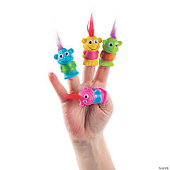 Crazy Hair Finger Puppets