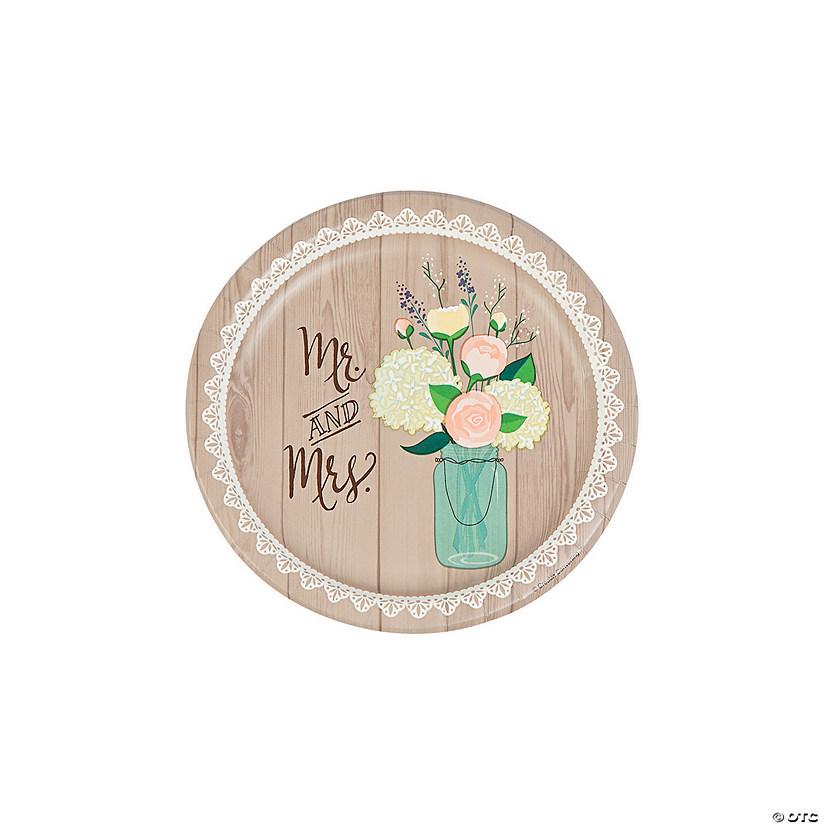 Rustic Wedding Paper Dessert Plates