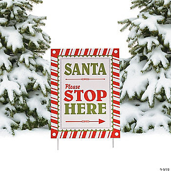 Santa please stop here yard sign - Gardeners supply company coupon code ...