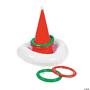 Inflatable Santa Hat Toss Game