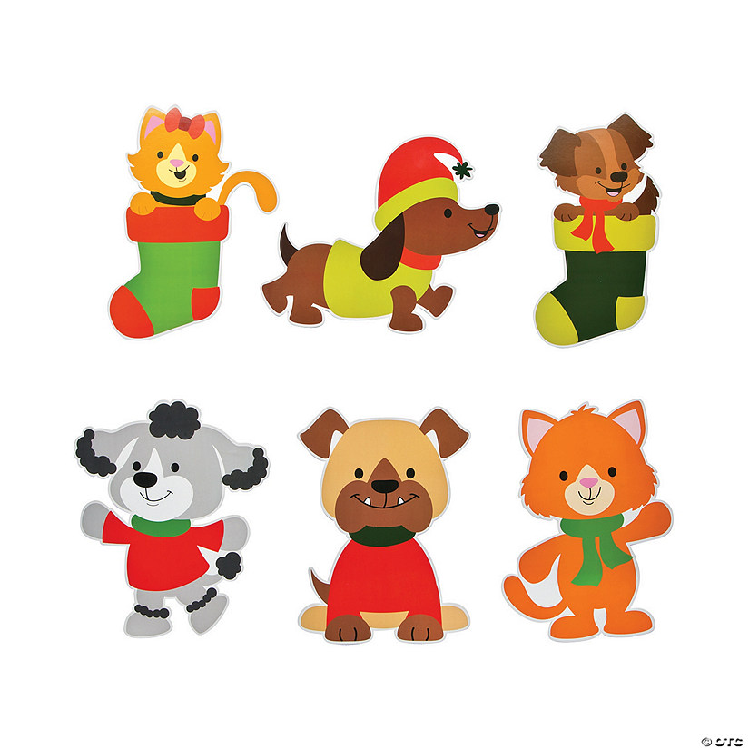 Christmas Cutout Decorations: Christmas Tails Cutouts