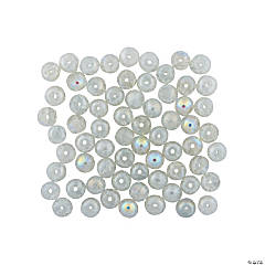 Crushed Glass Iridescent Beads - 8mm