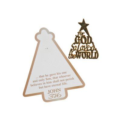 Religious Christmas jewelry tree pin set