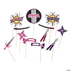 Ninja Girl Photo Stick Props