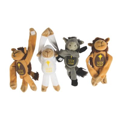 Plush Nativity animals set