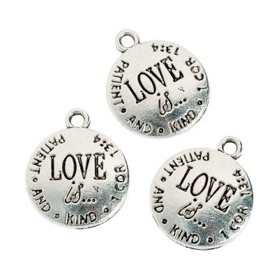 love is patient jewelry charms