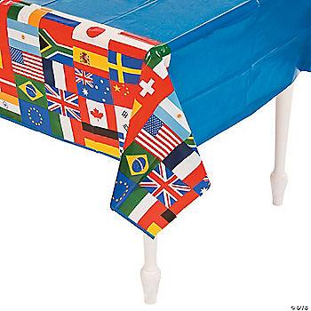 International flags plastic tablecloth oriental trading - Chemin de table plastique ...