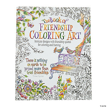 Friendship Adult Coloring Book