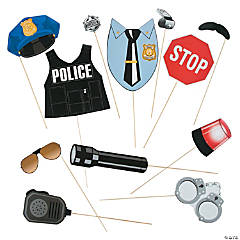 Police Party Photo Stick Props