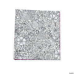 American Crafts™ Adult Coloring Floral Binder