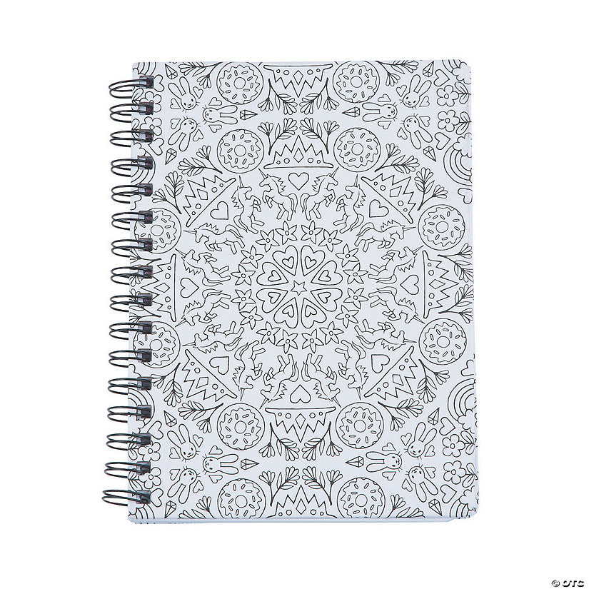 American Crafts8482 Adult Coloring Kaleidoscope Spiral Notebook