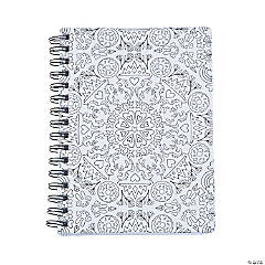 American Crafts™ Adult Coloring Kaleidoscope Spiral Notebook