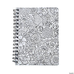 American Crafts™ Adult Coloring Floral Spiral Notebook