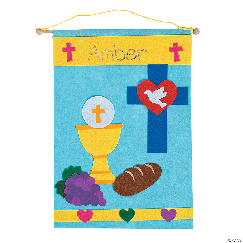First communion banner craft kit for First communion craft ideas