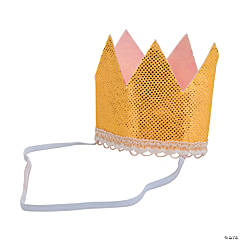 1st Birthday Girl Glitter Crown