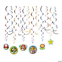 Super Mario™ Hanging Swirl Decorations