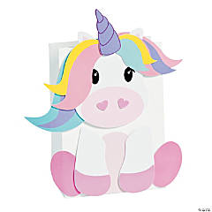Unicorn Valentine Card Holder Paper Bag Craft Kit