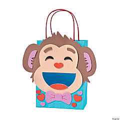 Monkey Valentine Card Holder Bag Craft Kit