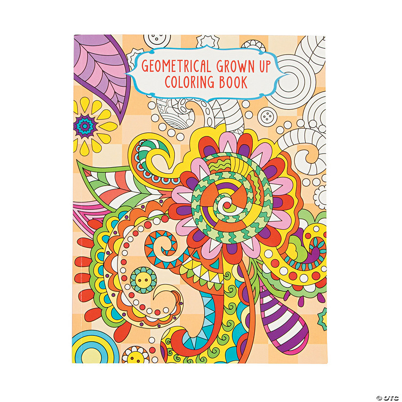 Geometrical Design 1 Adult Coloring Book