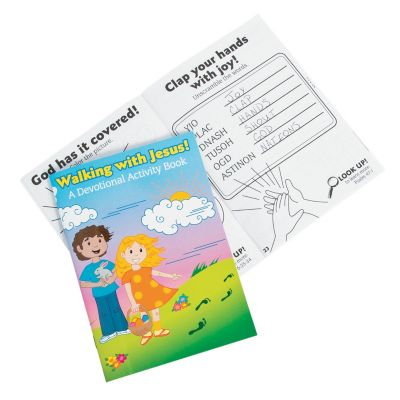 walking with Jesus devotional activity kids book