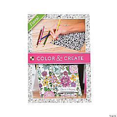 Color and Create: Flowers Adult Coloring Stack