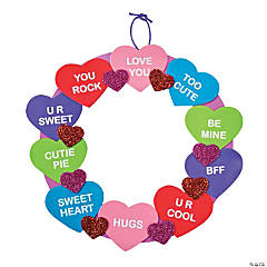 Conversation Heart Wreath Craft Kit