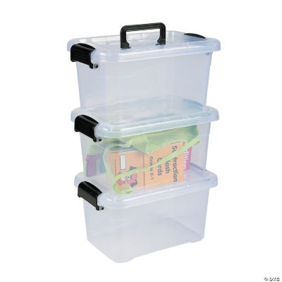 Clear Large Locking Storage Bins with Lids