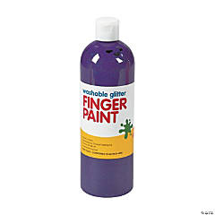 Washable Purple Glitter Finger Paint - 16 oz.