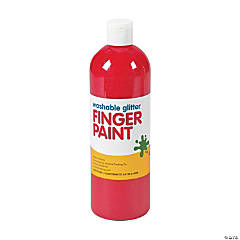 Washable Red Glitter Finger Paint - 16 oz.