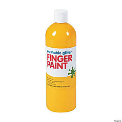 Washable Yellow Glitter Finger Paint - 16 oz.